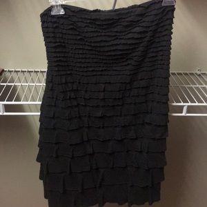 Large Express strapless ruffle dress